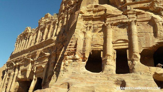 tombeaux des rois nabatéens de Pétra en Jordanie