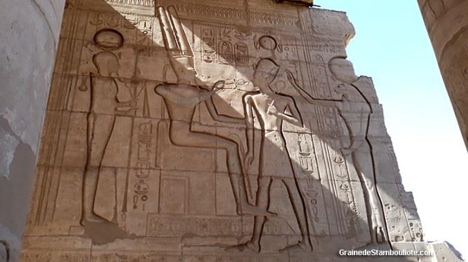 temple des millions d'années de Ramses II, Rameseum, Louxor, Thèbes, Egypte, Amon-Re, Osiris, Sekmet
