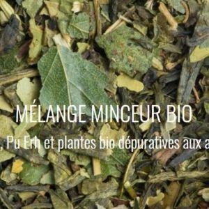 Thé vert pu erh et plantes bio dépuratives aux agrumes