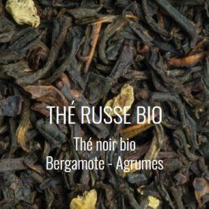 Thé noir bio Thé russe bergamote agrumes