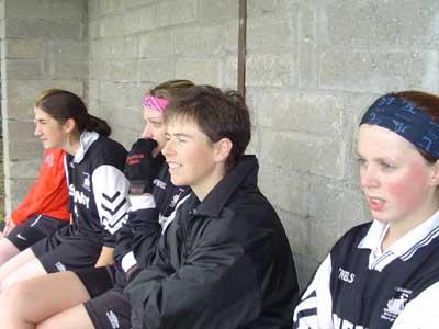 Gráinne Mhaols panellists Tara Staunton, Siobhán Conneely, Ann Conneely and Lorraine Heffernan keep a close eye on proceedings during their 2004 Connacht Junior Championship Semi Final against the Leitrim Champions.