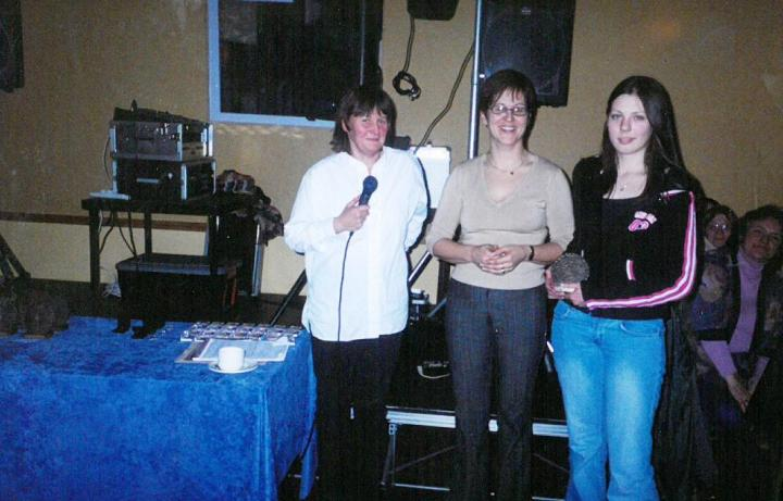 Josephine McDonagh was the recipient of a Juvenile Special Award at the 2004 Grainne Mhaols Annual Social in the Station House Hotel, Clifden.