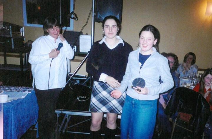 Patricia Flaherty was the recipient of a Juvenile Special Award at the 2004 Grainne Mhaols Annual Social in the Station House Hotel, Clifden.