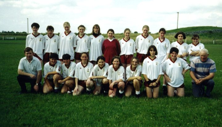 Galway adult team pictured prior to a 1997 league match in Clarinbridge. Maire Cloherty is standing second from the left in the back row.