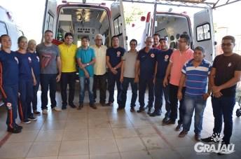 Grajau recebe duas ambulancias do SAMU e uma retroescavadeira 15