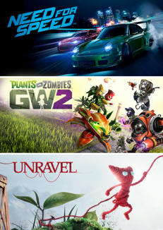 Need for Speed + Plants vs. Zombies Garden Warfare 2 + Unravel za 34,97 zł – Origin