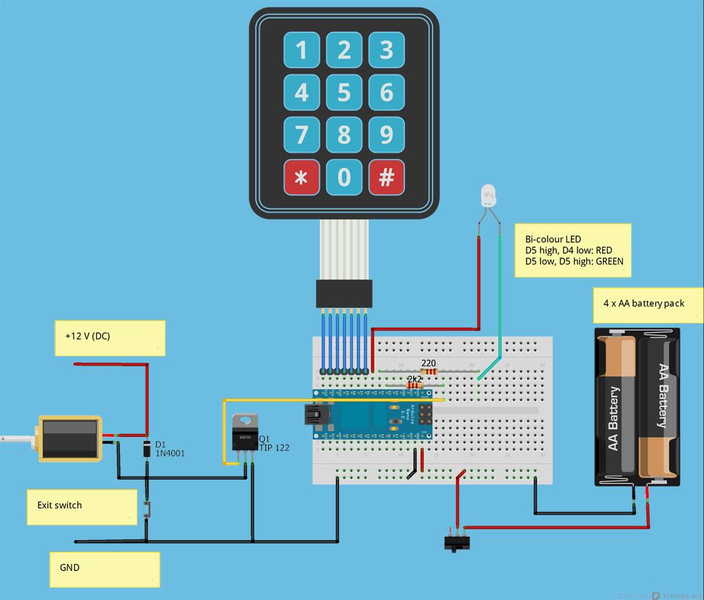 electronic number lock circuit diagram ford fiesta wiring arduino keypad entry system grallator