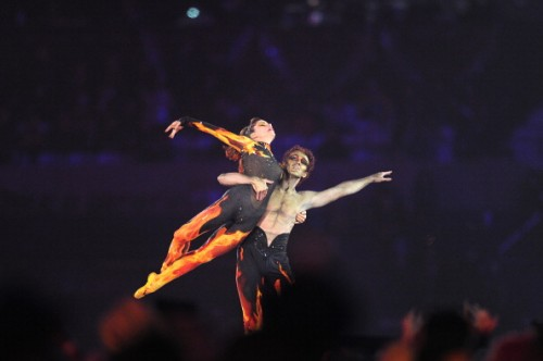 Darcey Bussell and Gary Avis at the Closing Ceremony of the 2012 Olympic Games in London