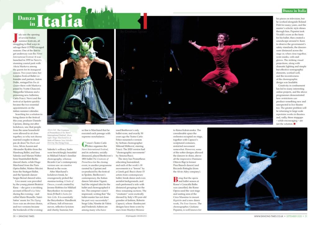 Dancing Times, September 2020