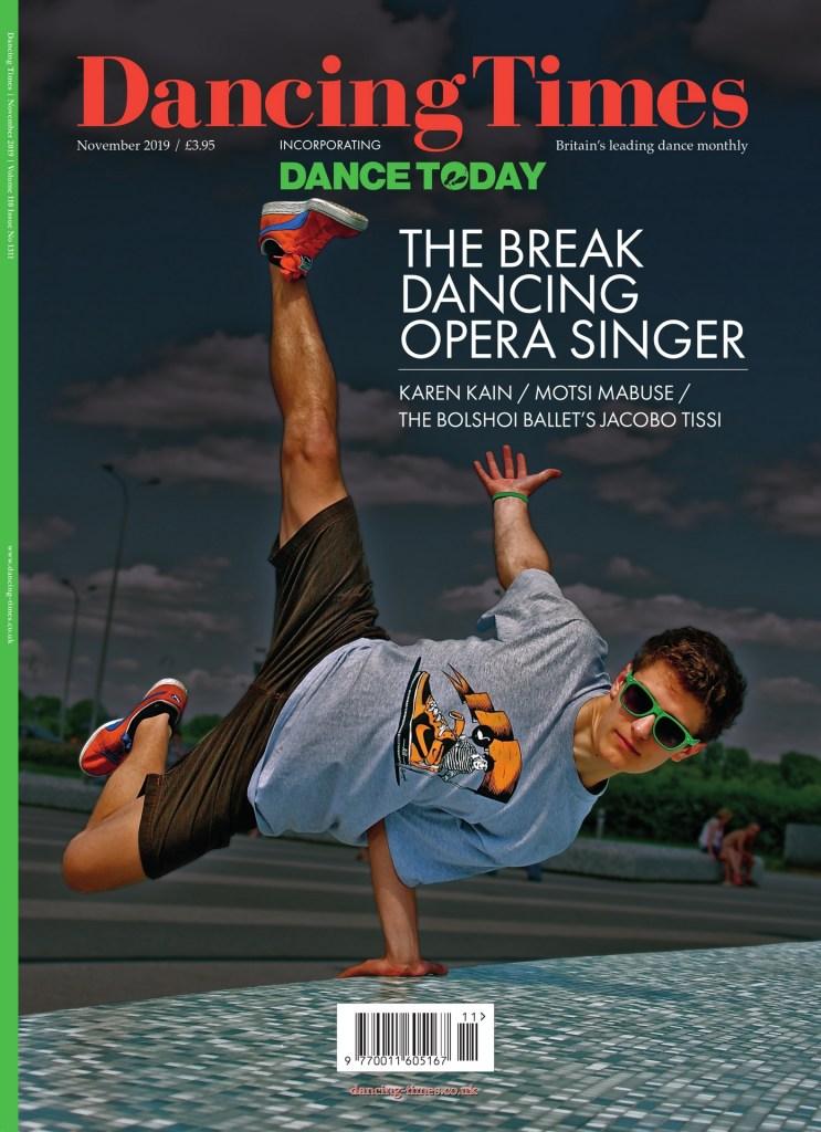 Dancing Times, November 2019 cover