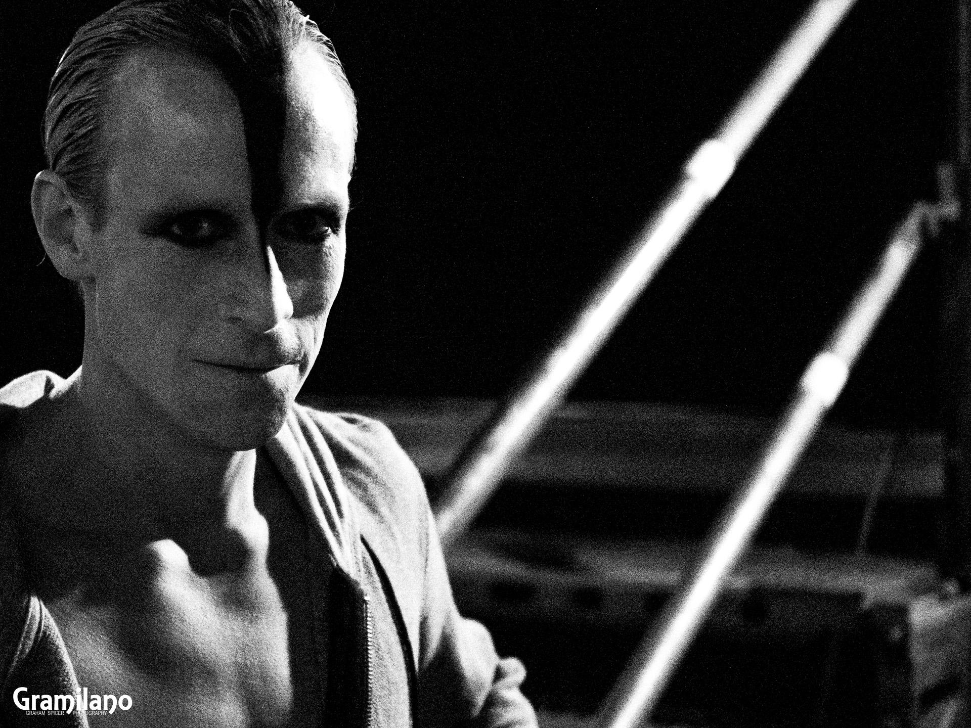 Edward Watson preparing for the Swan in Matthew Bourne's Swan Lake
