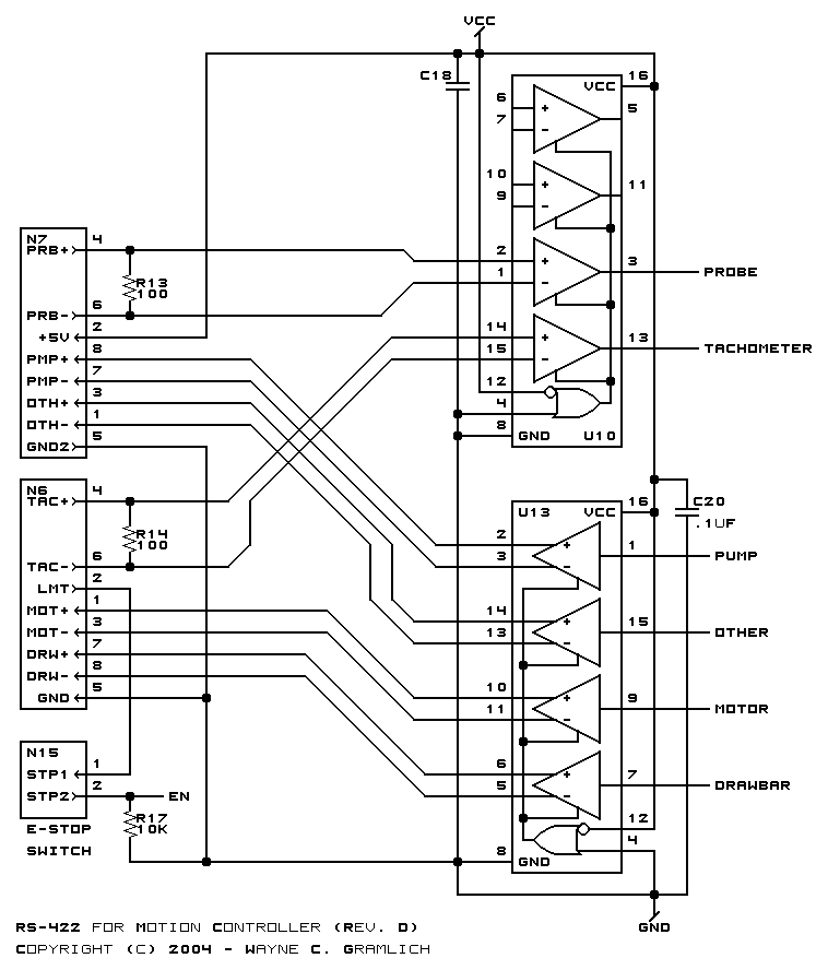 CNC Controller Motion Schematics (Rev. D)