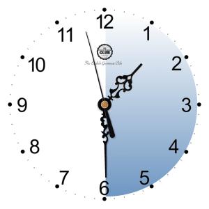 It's half past one