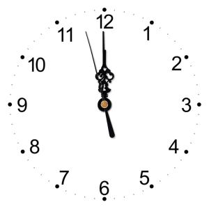 It's twelve o'clock, It's midday, It's midnight.