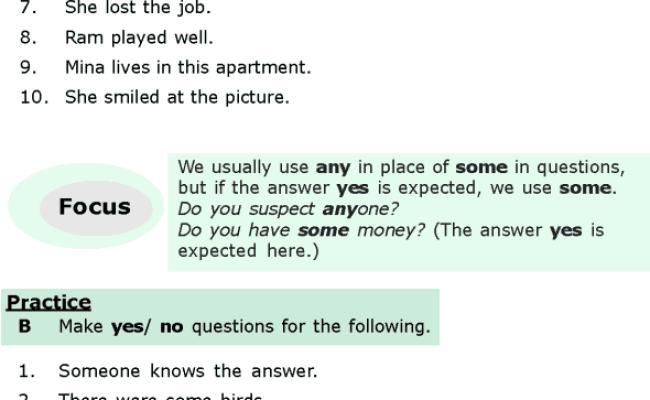 Grammar Grade 6 Grammar Lesson 8 Questions