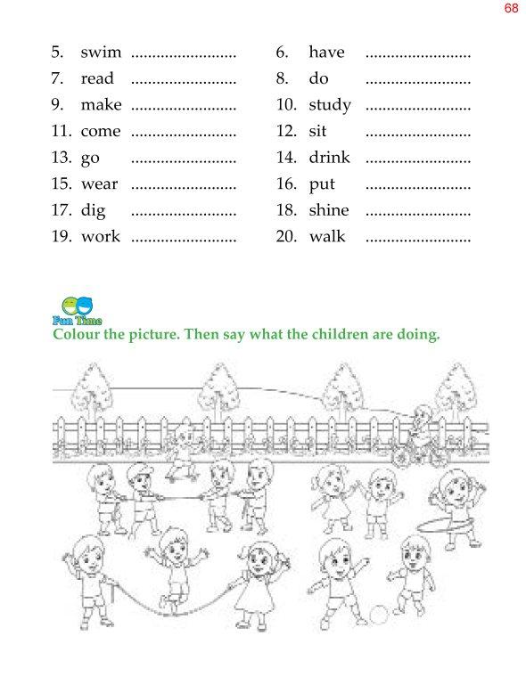 Grammar » 1st Grade Grammar Present Continuous 1