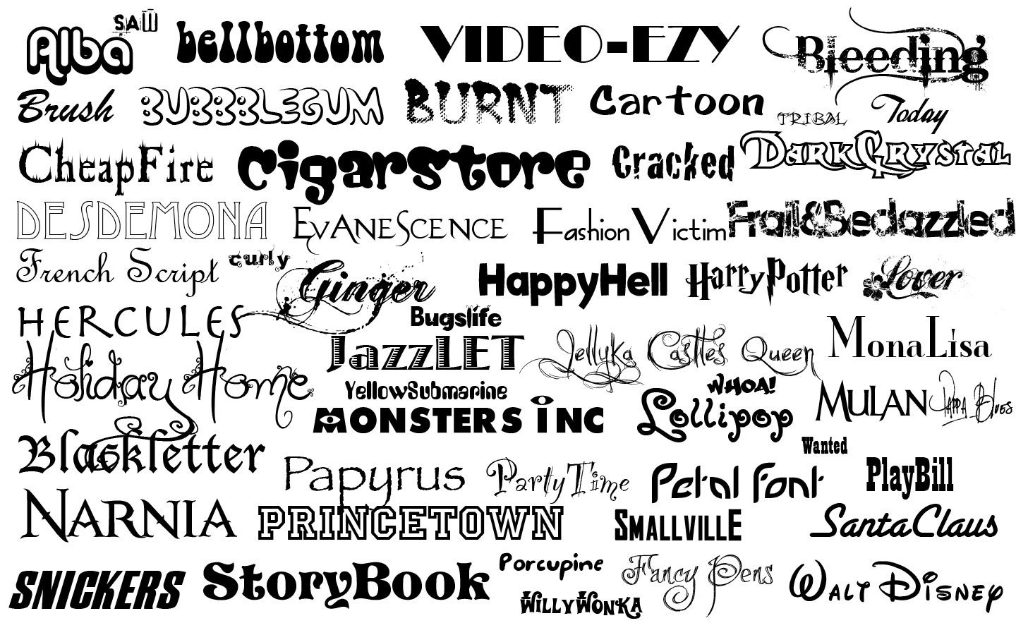 Different Types Of Fonts  The Red Ink