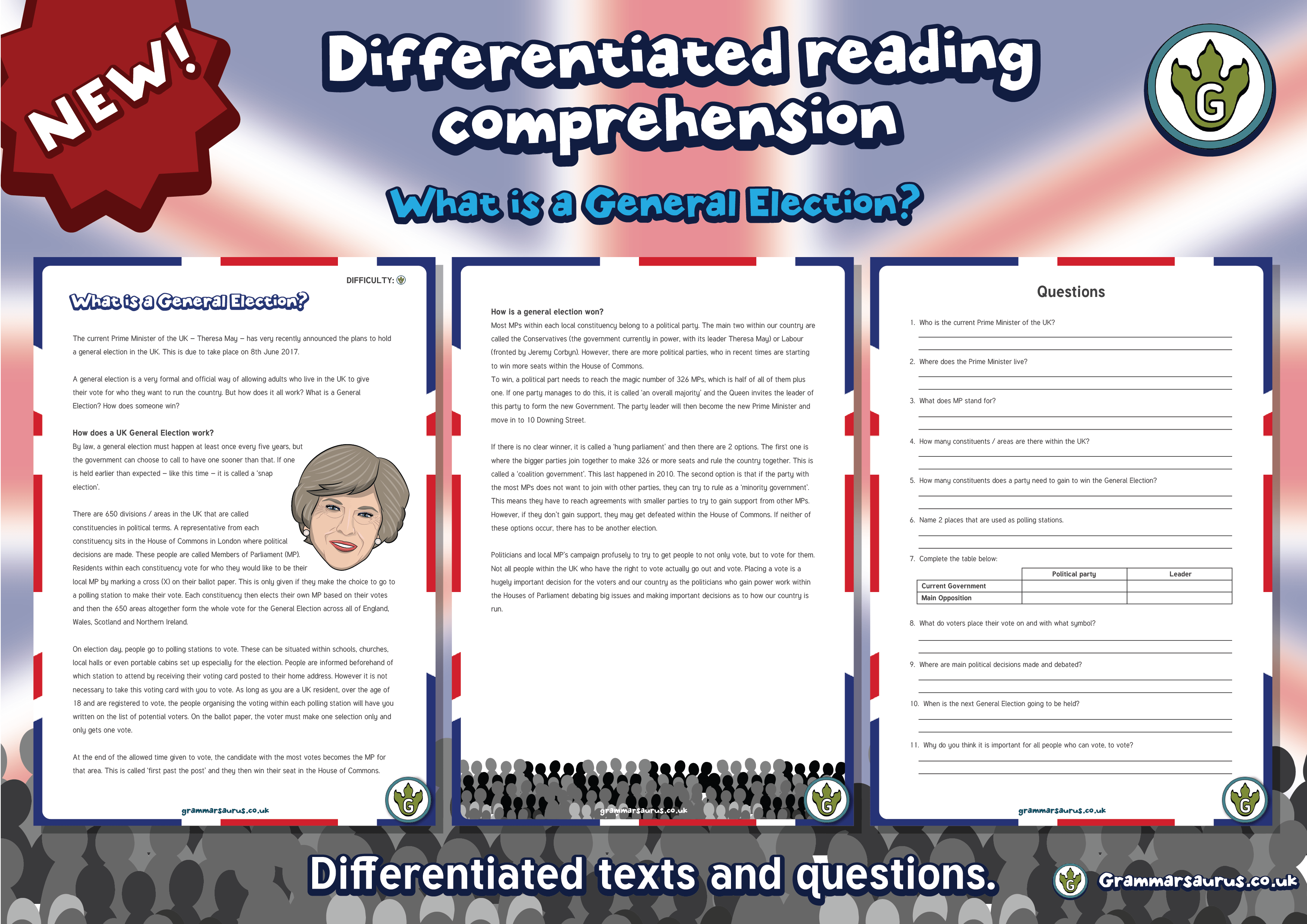 New Ks2 Differentiated Reading Comprehension