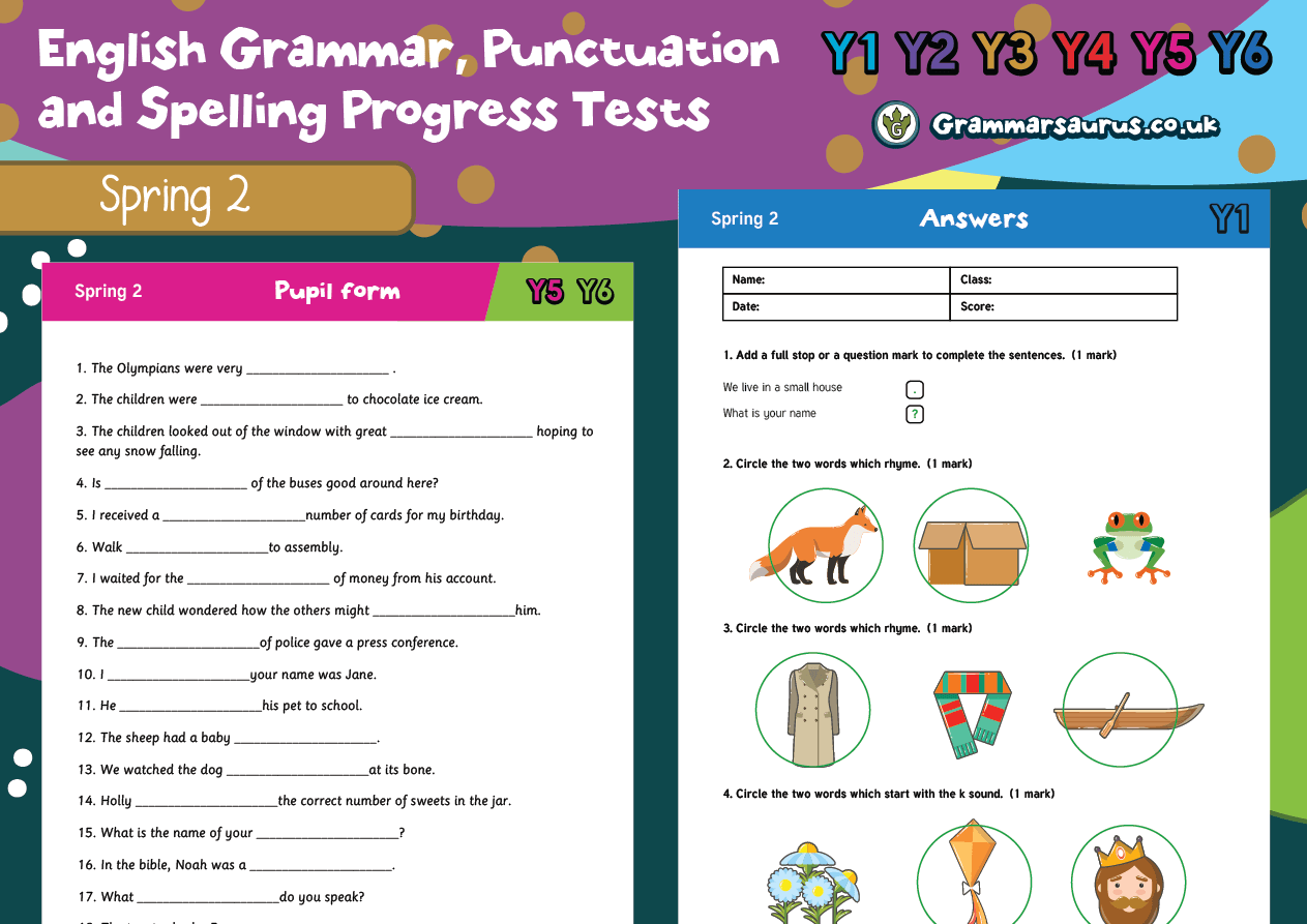 Year 4 English Grammar Punctuation And Spelling Progress