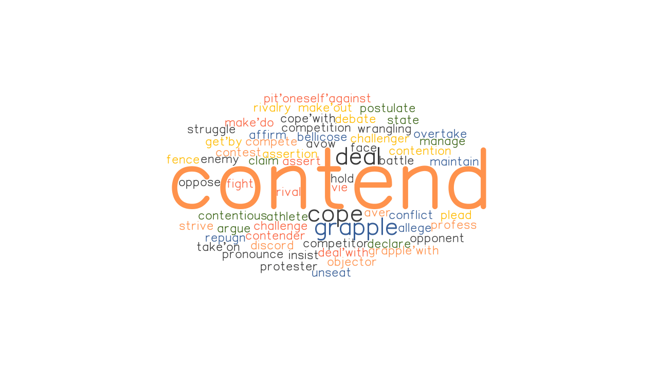 CONTEND: Synonyms and Related Words. What is Another Word for CONTEND? - GrammarTOP.com