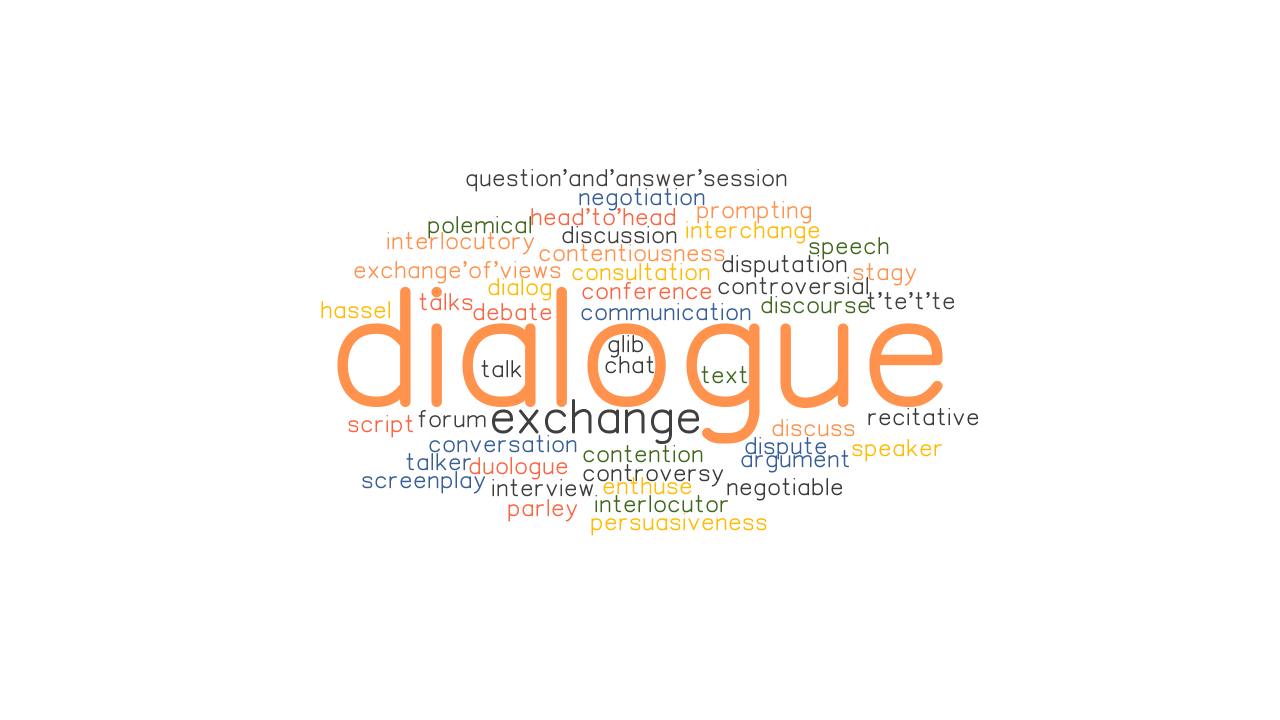DIALOGUE: Synonyms and Related Words. What is Another Word for DIALOGUE? - GrammarTOP.com