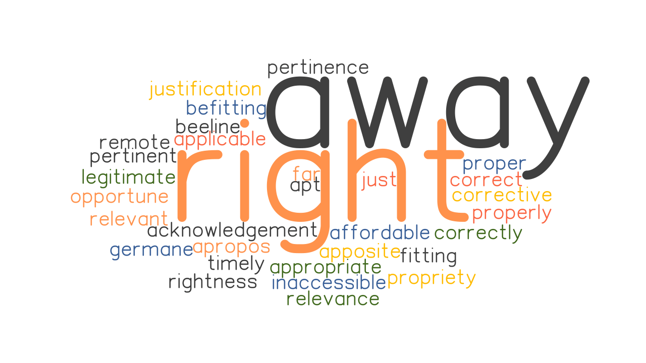 RIGHT AWAY: Synonyms and Related Words. What is Another Word for RIGHT AWAY? - GrammarTOP.com
