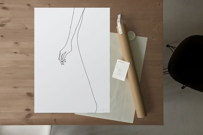 FredericForest_grammatical_LineDrawing_WomanStanding_Package