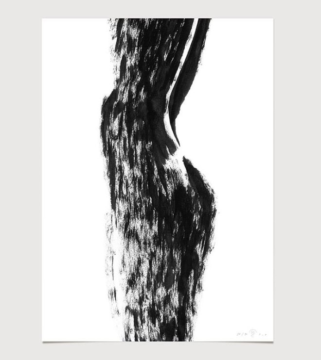 FredericForest_grammatical_LineDrawing_14_WomanStandingShadow_50x70cm