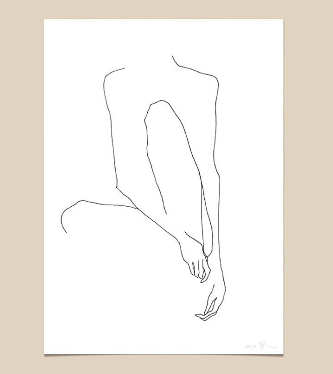 FredericForest_grammatical_LineDrawing_21_WomanSitting_70x100cm