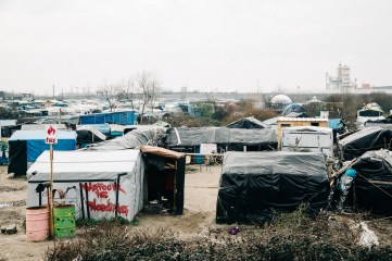 A view from the outside the camp. 26th feb