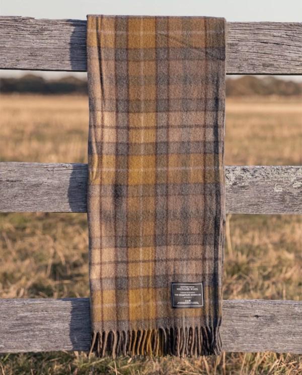 Gold - Grampians Scottish Tartan Blankets
