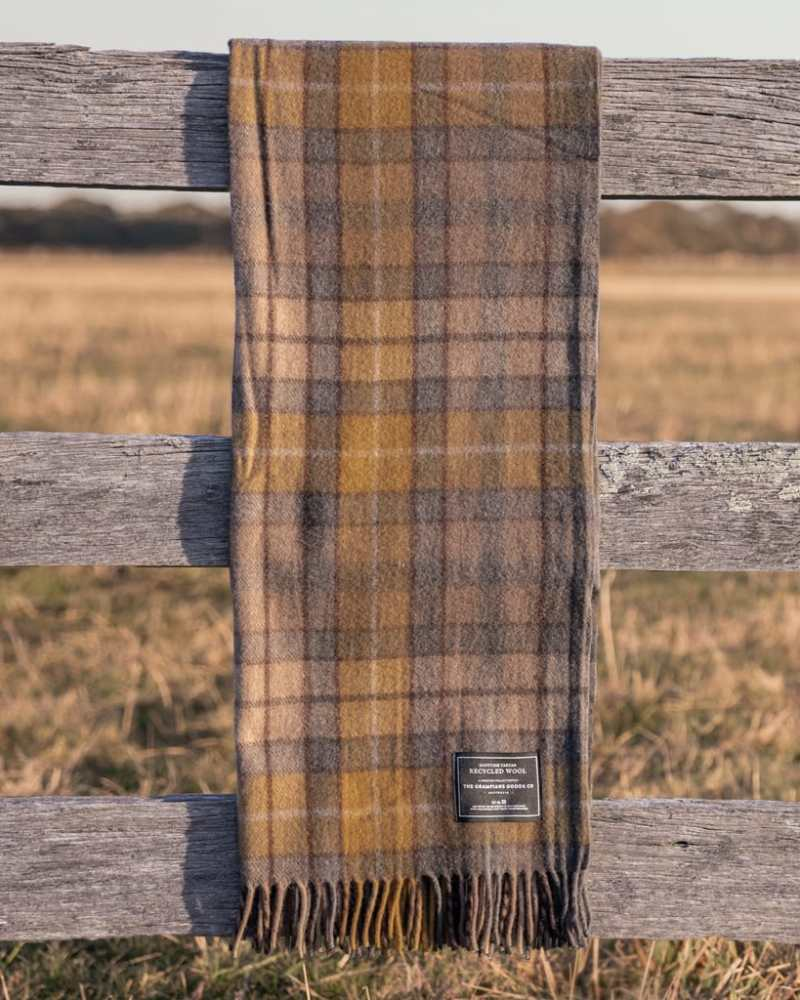 Gold - Grampians Scottish Tartan Blankets
