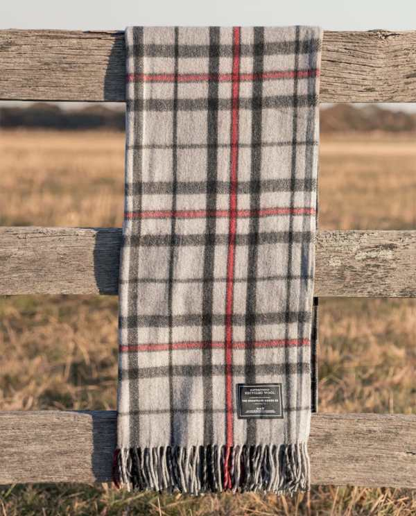 Grey - Grampians Scottish Tartan Blankets