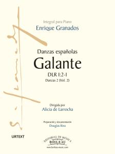 Foto portada Danzas Españolas Galante - Granados