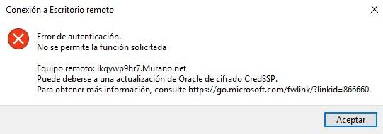 Error al acceder a Sage Murano/Sage 200 online con el conector
