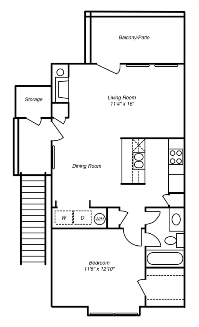 11 By 12 Bedroom Layouts : bedroom, layouts, Bedroom, Apartment, Layouts, Courtyard, Apartments, Storage