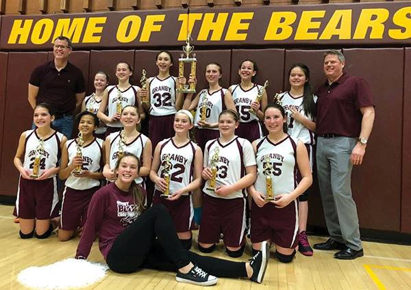 Girls' travel basketball team wins championship   Granby Drummer
