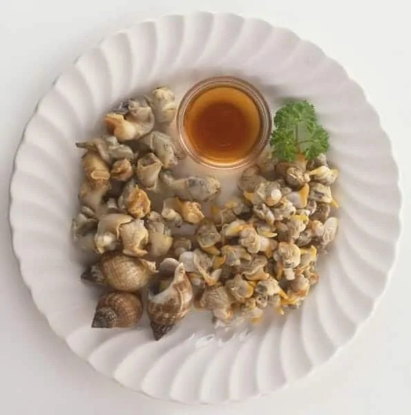 plate of cockles and whelks