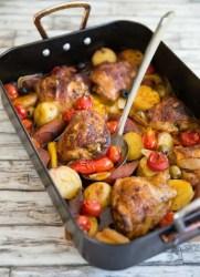 spanish chicken tray bake
