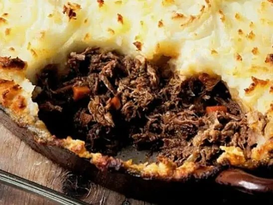 cottage pie using leftover beef