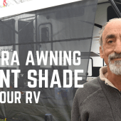Ep. 195: Solera Awning Front Shade for Your RV | accessories gear DIY how-to