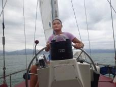 Janai at the helm