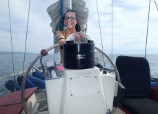 Rychelle at the helm