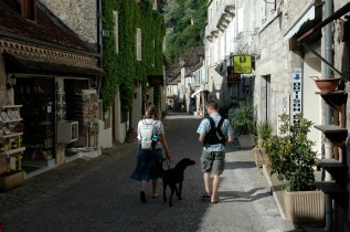 Wandering the streets of Rocamadour