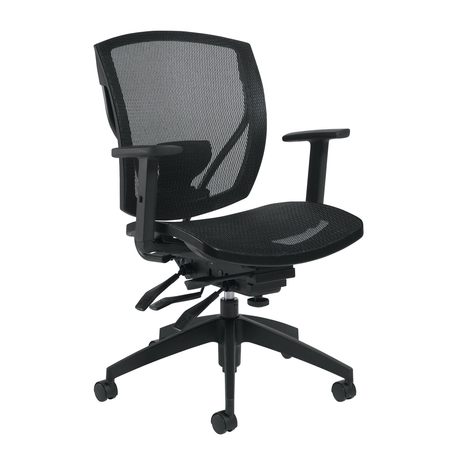 Go Chair Offices To Go Ibex Multi Tilter Chair Mid Back Black