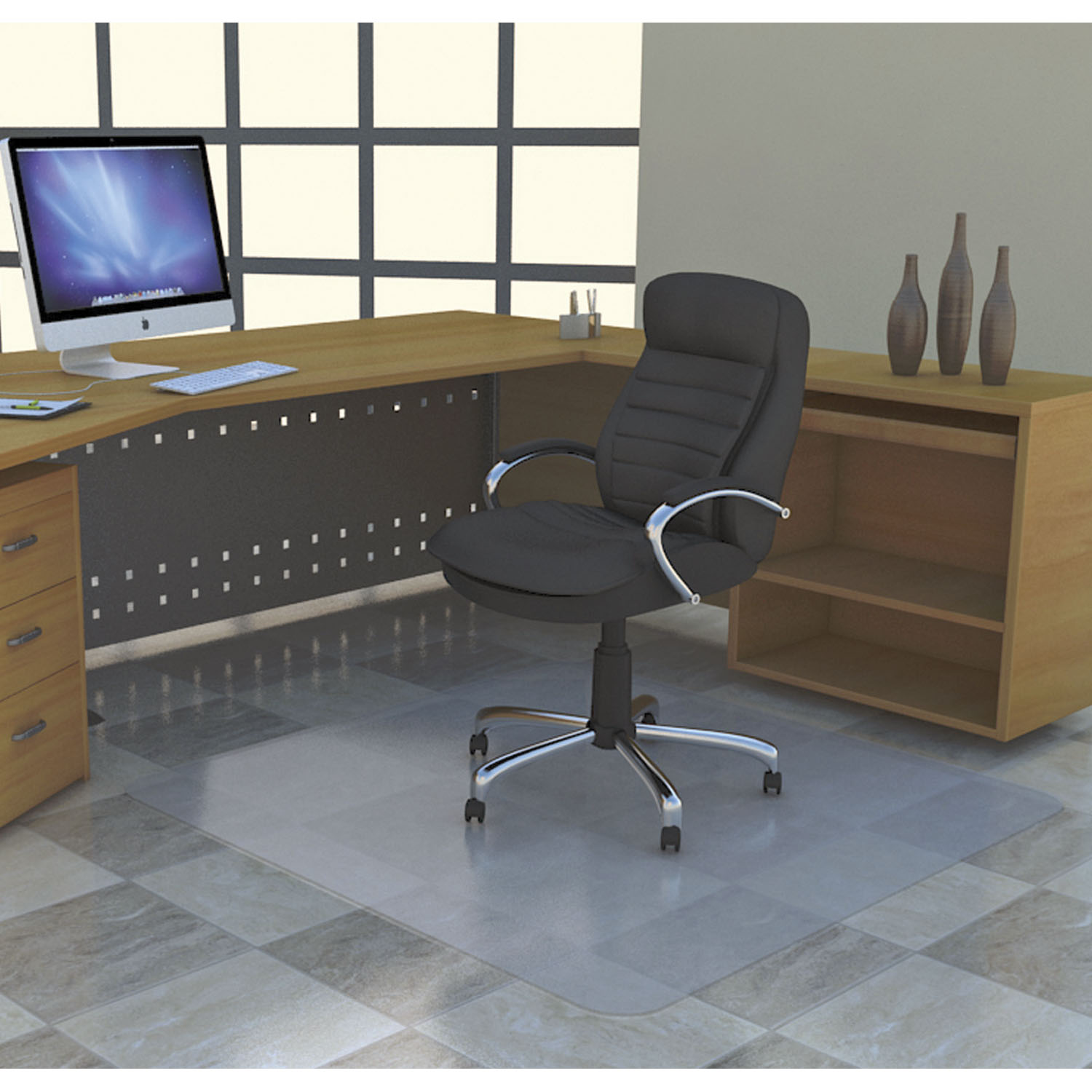 Desk Chair Mat For Carpet Deflecto Smooth Back Polycarbonate Rectangular Chairmat