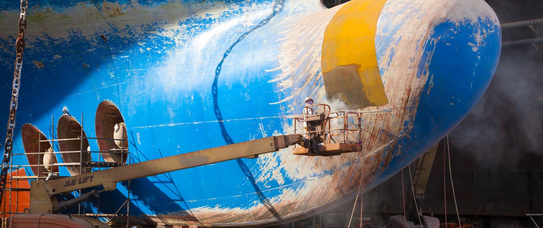 Hull Treatment  Blasting and Coating  Grand Bahama Shipyard