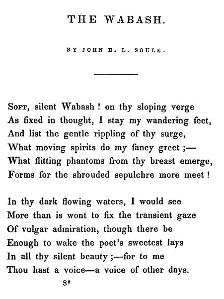 Poem by John Soule
