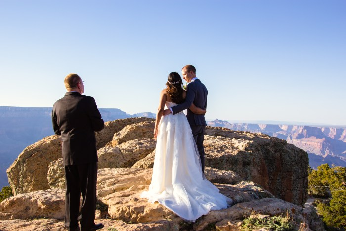 grand canyon wedding packages elopement lipan point
