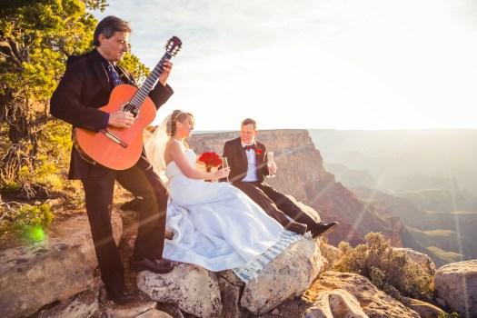 grand canyon wedding sunset elopement lipan point